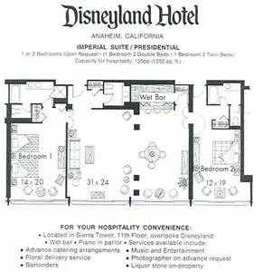 disneyland hotel 2 bedroom suite disneyland hotel presidential suite floorplan