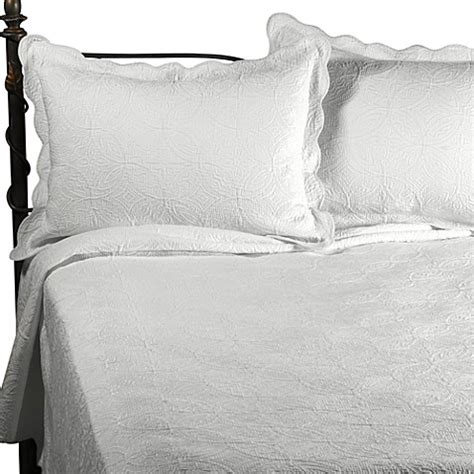 matelasse twin coverlet buy matelasse coventry full queen coverlet set in white