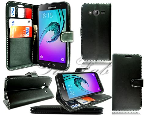 Samsung J3 2016 New Free Tempered for samsung galaxy j3 2016 j320f new leather wallet