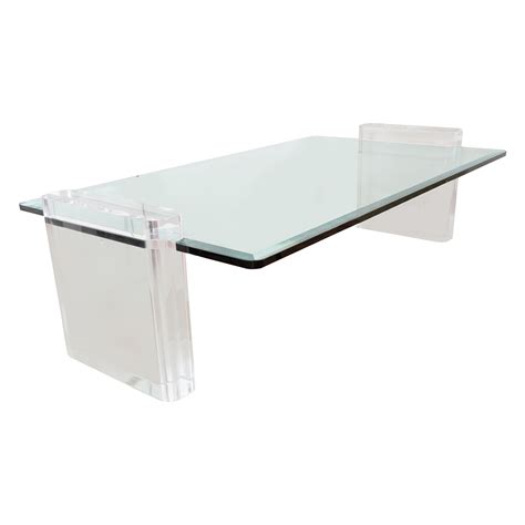 Lucite Table L by Lucite Coffee Table Coffee Tables Salibello