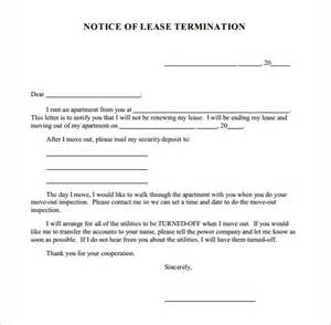 Notice Of Lease Termination by Termination Notice Template 7 Free Documents In Pdf Word