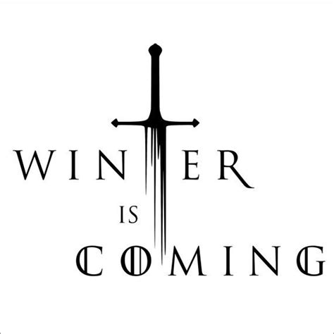 winter  coming game  thrones vinyl decal  pack