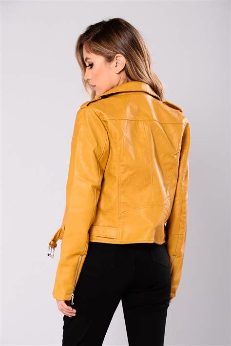 Parka Mustard Dina Fashion 1 araxie vegan leather jacket mustard