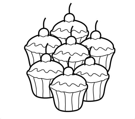 free printable cupcake template printable cupcake template 25 eps word documents