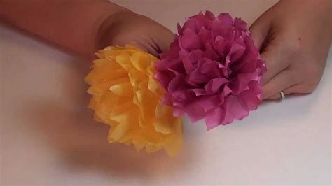 How To Make A Paper Carnation - tissue paper carnation flower