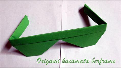 membuat origami simple cara membuat origami kacamata berframe easy sunglasses