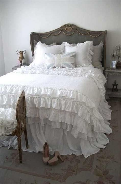 ruffled bedspreads comforters lovely ruffle bedding country french pinterest
