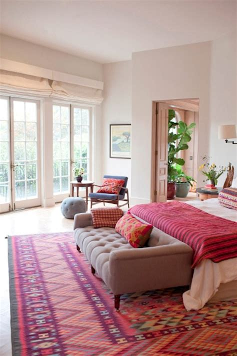 how to use patterned rugs in your bedroom the interior