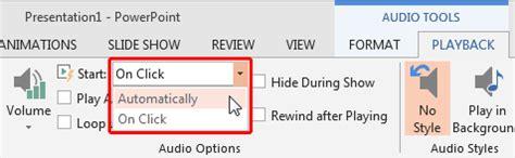 insert audio (sound) in powerpoint 2013 for windows
