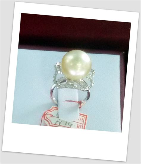 Cincin Mutiara Lombok Perhiasan Accessories 3 handmade gold ring with south sea pearl ctr 109 harga mutiara lombok perhiasan toko emas