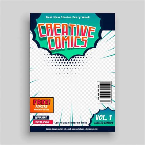 Comic Book Cover Template Design Vector Free Download Comic Book Cover Template