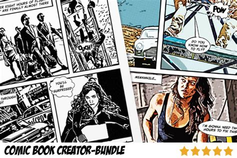 comic book layout maker comic book creator bundle actions on creative market