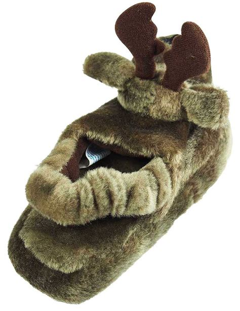 animals slippers wishpets boys moose animal slippers brown toddler