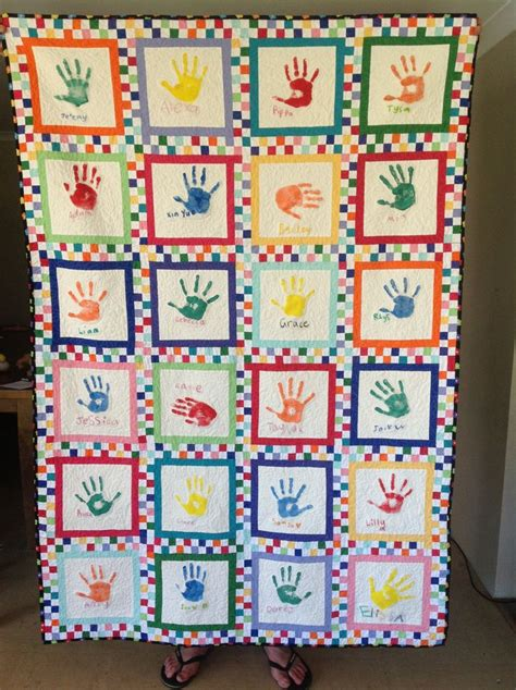 Handprint Quilt by Pin By Luhn On Handprint Quilt