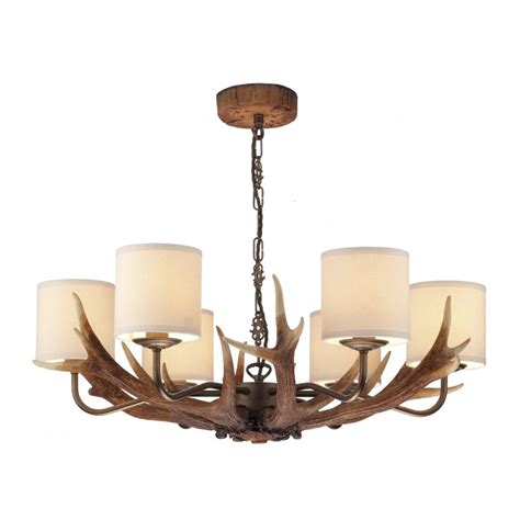 david hunt ant0629 ceiling pendant antler 6 light