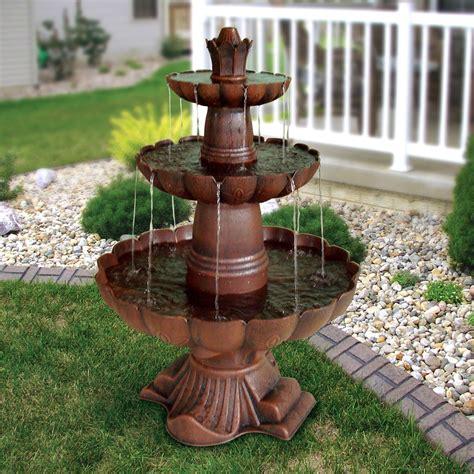 Massage Desk Chairs 3 Tier Outdoor Garden Fountain In Durable Poly Vinyl