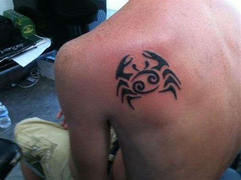 cancer sign tribal tattoo 15 cancer tattoos for guys