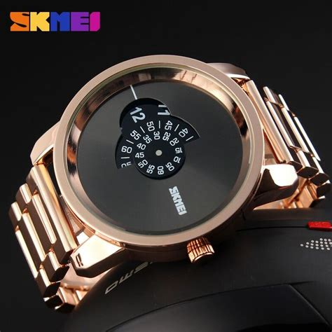 Harga Jam Tangan Casio Quartz Water Resist skmei jam tangan analog pria ad1171 gold jakartanotebook
