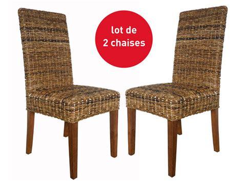 Chaise En Rotin Conforama 6888 by Lot De 2 Chaises En Rotin Abaca Vente De Chaise Conforama