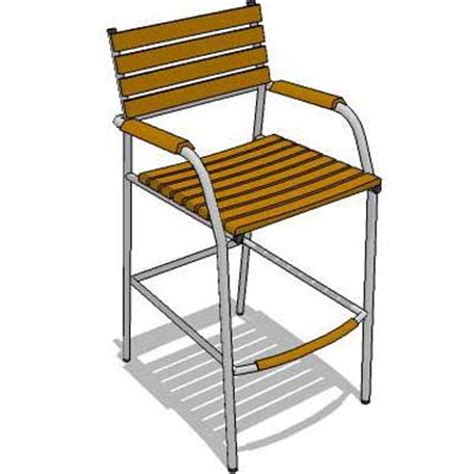 Teak Bistro Table And Chairs M Teak Bar Set 3d Model Formfonts 3d Models Textures