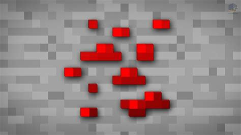 minecraft shaded redstone ore wallpaper by chrisl21 on