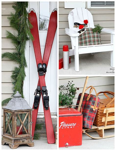 vintage christmas front porch decor front porch for the picnicing ski bums house of