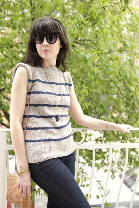 knitting pattern striped jumper a common thread free sweater pattern no sew striped