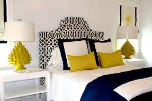 Color scheme yellow and navy blue eclectic living home