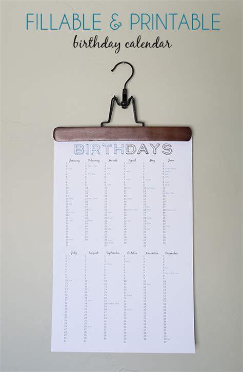 free fillable birthday calendar template search results for birthday fillable calendar templates