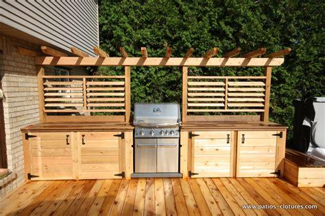 cuisine exterieure bois cuisine ext 233 rieure avec comptoir en ip 233 patios en bois