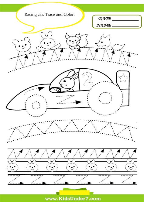 Car Worksheet by Free Tracing Lines Coloring Pages