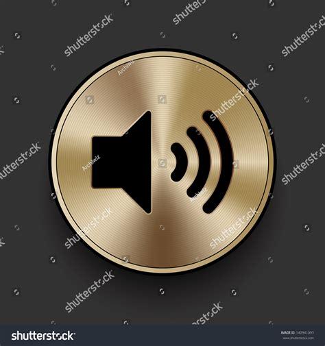 design elements volume vector metal multimedia speaker volume icon button