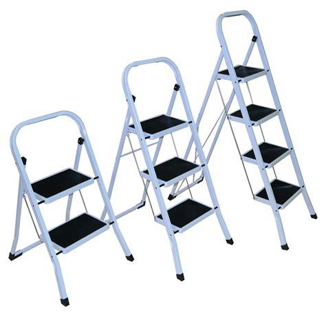 fold up step ladder strong 2 3 4 folding step ladder non slip matt stepladder