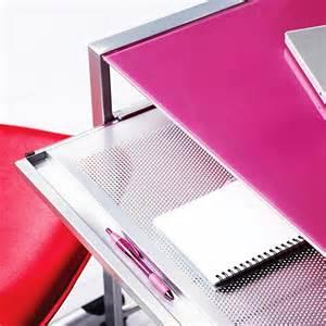 Pink Glass Desk by Pink Desk Glass Top Modern Computer Workstation Study