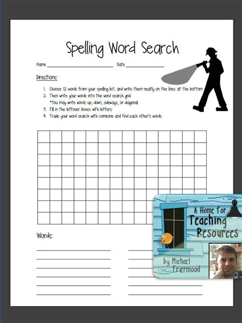 find word templates quot free this word search template is designed for students