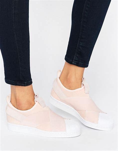Adidas Superstar Slip On Pink Original adidas originals adidas originals pink slip on superstar trainers