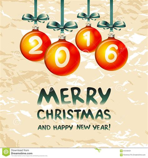 images of christmas new year 2016 2016 merry christmas and happy new year stock vector