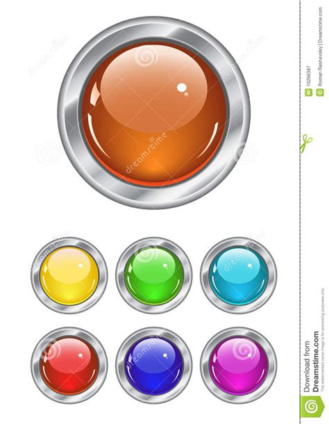 button color html color web buttons royalty free illustration