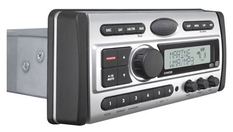 boat stereo volume control clarion cmd5 marine cd mp3 wma receiver with