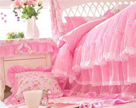 Girly Queen Comforter Sets Memorecool Home Textile Elegant Design Pastoral Style