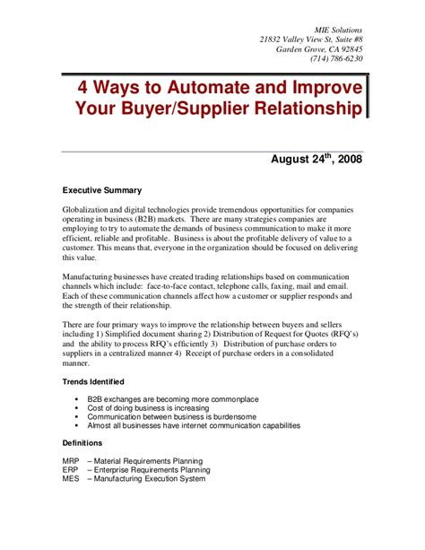 4 ways to automate and improve your buyer supplier