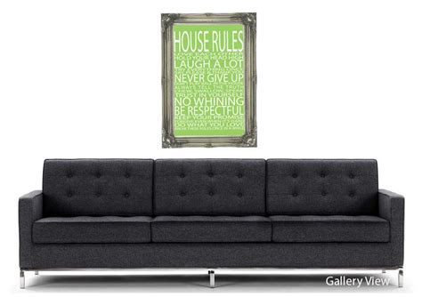 house rules love   lime green text quotes art