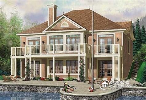lake house plans walkout basement lake house plans with walkout basement basements ideas