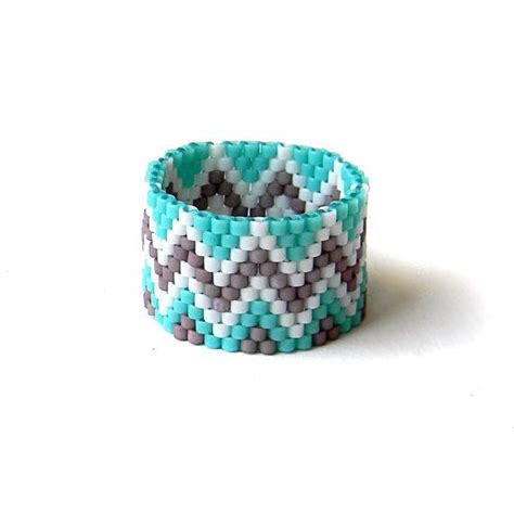 beadwork rings beadwork rings jennies wide band ring beaded ring