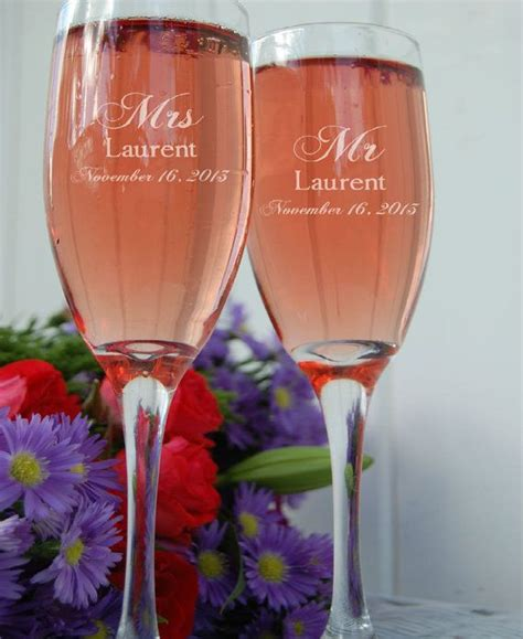 personalized chagne flutes custom chagne glasses 25 best ideas about wedding toasting glasses on pinterest