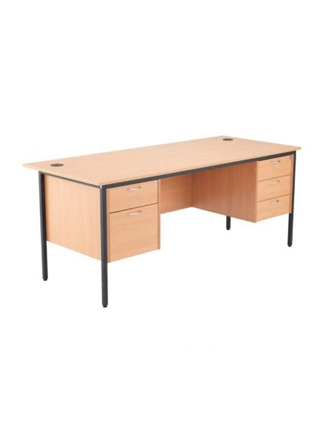 Beech Office Desk Beech Office Desk 1228x746mm Tc Start 18 Desk Stb12recdrw3be 121 Office Furniture