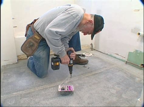 how to install cement board on bathroom floor how to install a ceramic tile floor how tos diy