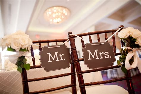 Mr And Mrs Chair Signs by Mr And Mrs Reception Chair Signs Elizabeth Designs The Wedding