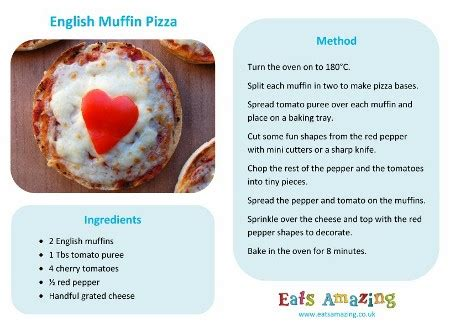 printable recipes uk easy english muffin pizza recipe eats amazing