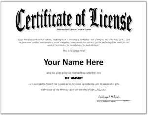 Getting Started Unlicensed Agenttraining Info Minister License Template